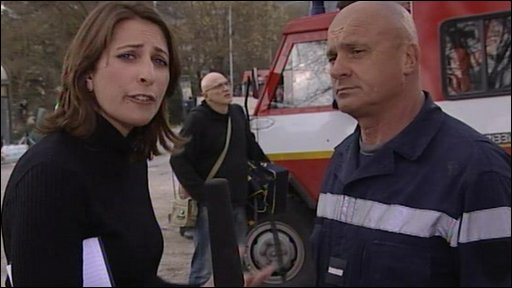 Luisa Baldini and fireman
