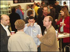 Entrepreneurs at the Open Coffee Club
