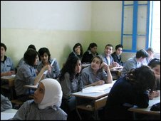 A history lesson in a Lebanese school
