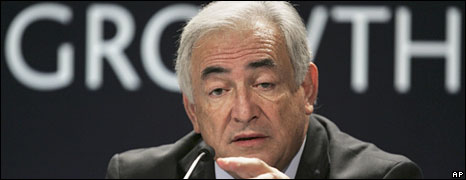 IMF chief Dominique Strauss-Kahn at the G20 summit