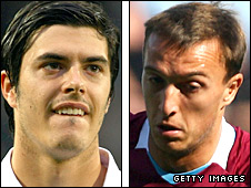 James Tomkins and Mark Noble