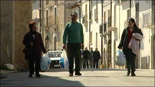 People leave village