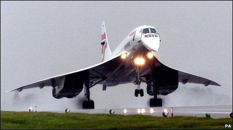 Concorde landing