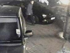 CCTV image of car and man