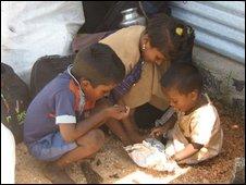 Children in north-east Sri Lanka