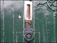 Faeces on the door