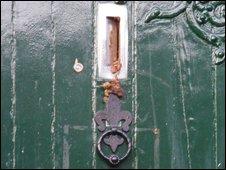 Faeces on the door