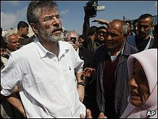 Gerry Adams is on a visit to the Middle East