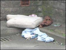 Rubbish on a Blaenavon street