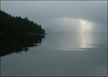 Light over water in Canada by Marina Elliott