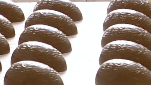 Easter Eggs on a production line