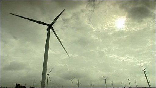The wind farm on Romney Marsh