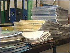piles of scripts