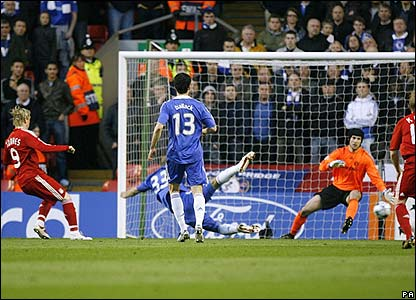 Torres scores for Liverpool
