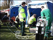 Scene (pic: West Midlands Ambulance Service)