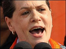 File photo of Sonia Gandhi, September 2008