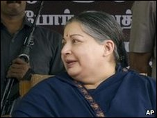 AIADMK leader Jayaram Jayalalitha Chennai, India, Monday March 9, 2009
