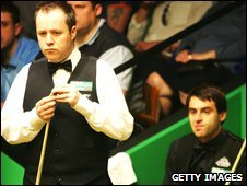 John Higgins (left) and Ronnie O'Sullivan (right)