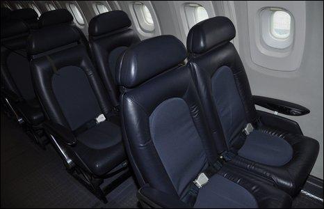 Seats inside Concorde