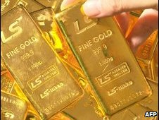 Pure 1,000g gold bars