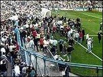 Golygfa o stadiwm Hillsborough