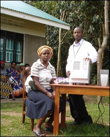 Doctor and patient in Uganda