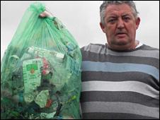 Robert Evans took pictures of rubbish he found in Blaenavon