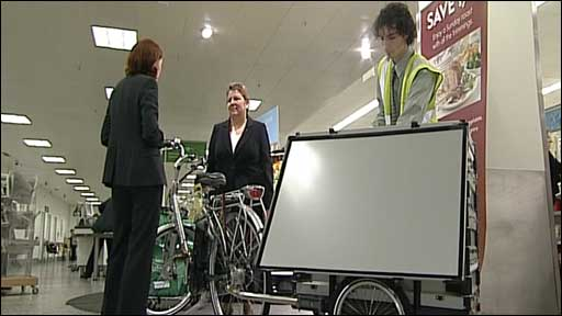 The supermarket delivery bicycle
