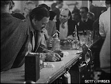 Man at bar