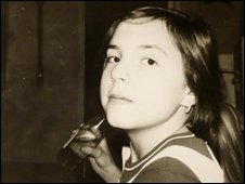Natalia Borysewicz as a child in the 1980s
