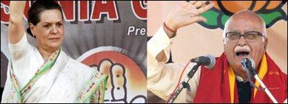 Sonia Gandhi and LK Advani