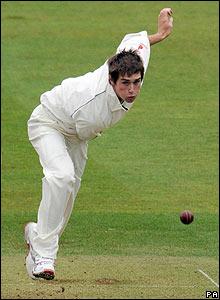 Chris Woakes bowling at Lord's