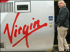 A Virgin Train and Richard Branson
