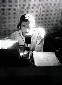 Keith Skues in the Radio Caroline studio, taken in the summer of 1964.