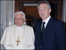 Tony Blair and Pope Benedict XVI