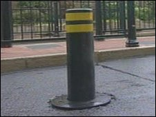 Bollard in Burton upon Trent
