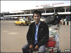 Migrant worker Mohammed Moslem back at Dhaka airport in March