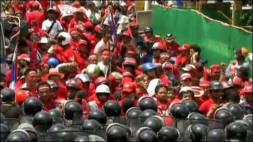 Thai anti-government protesters in Pattaya