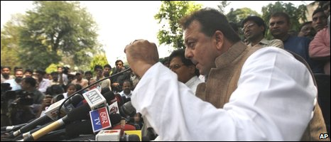 Sanjay Dutt in Delhi on 2 April