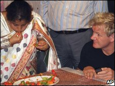 Anandita Dutta Tamuly and Gordon Ramsay