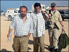 Spanish photographer Jose Cendon after being freed in Somalia