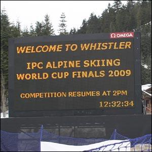 Whistler scoreboard