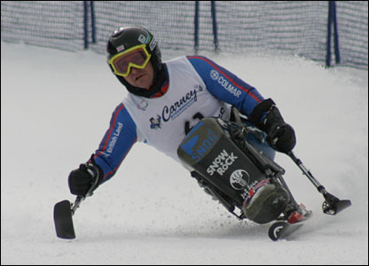 Sean Rose in the Giant Slalom in Whistler