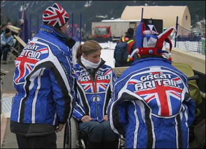 The GB team supporters in Whistler