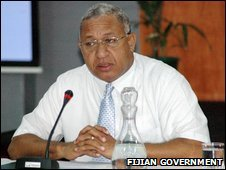 Frank Bainimarama, 9 April 2009 (image from Fijian government website)