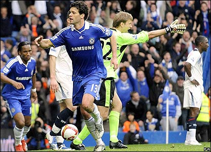 Ballack makes it 1-0 to Chelsea