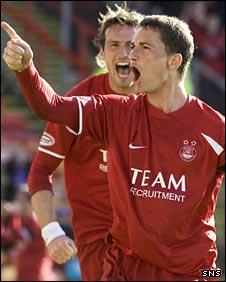 Gary McDonald celebrates his goal
