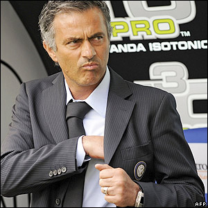 Mourinho shows his dissatisfaction