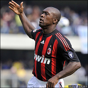Seedorf celebrates his goal