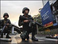 Thai soldiers in Bangkok, 13 April 2009